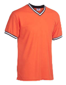Major team colors t-shirt shown in orange/black/white