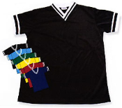 V-neck jersey in black/white