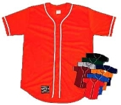 100% polyester jersey, shown in scarlet/white